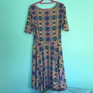LuLaRoe Dresses - Slinky Lularoe Nicole dress size Large